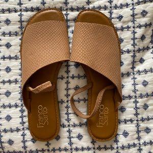 NWOT Franco Sarto Brown Slingback Sandal
